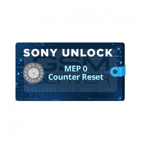 آنلاک شبکه سونی - Sony Unlock / MEP 0 Counter Reset Credits